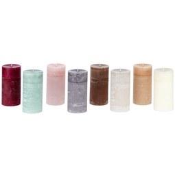 Stumpenkerze Holli verschiedene Farben - Taupe/Lila, MODERN (7/14cm) - Premium Living