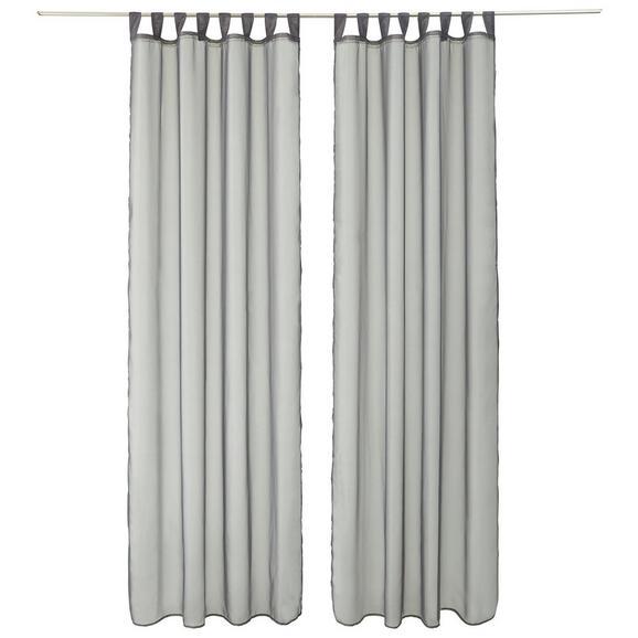 Perdea Cu Bride Hanna 2 Stk. -based- - Antracit, Material textil (140/245cm) - Based