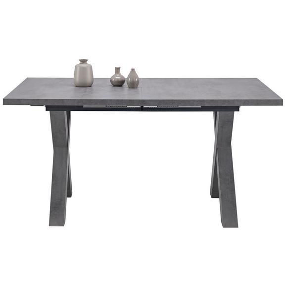 Masă Sufragerie Mister X - gri, Modern, compozit lemnos (160/210/74/90cm) - Modern Living