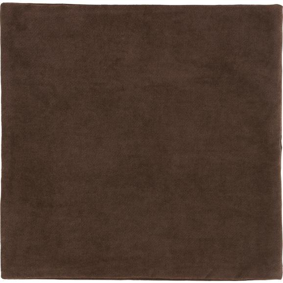 Kissenhülle Marit, ca. 40x40cm - Dunkelbraun, Textil (40/40cm) - Mömax modern living