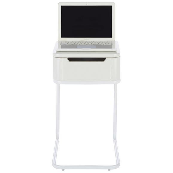 Laptoptisch Weiß - Weiß, MODERN, Holzwerkstoff/Metall (36/60-75/40cm) - Mömax modern living
