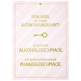 Postkarte Vollzeitprinzessin in Rosa - Goldfarben/Rosa, Papier (10,5/14,8cm) - Vollzeitprinzessin