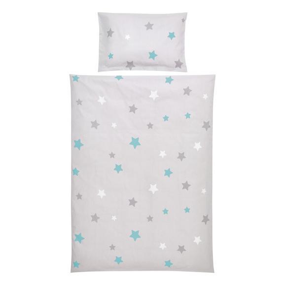 Lenjerie De Pat Pentru Copii Scarlett - turcoaz/gri, textil - Modern Living