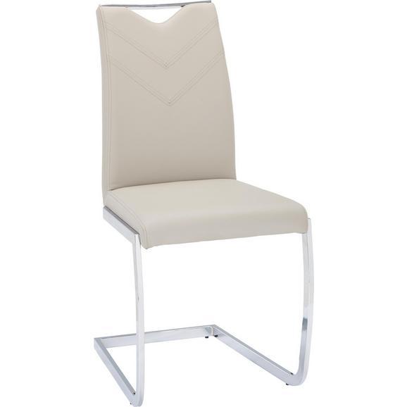 Nihajni Stol Vincent - odtenki umazano rjave/krom, Moderno, kovina/tekstil (47/97/58cm) - Mömax modern living