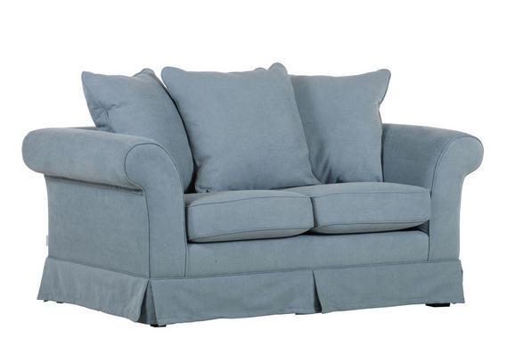 Dvosed Fly - svetlo modra/temno rjava, Romantika, tekstil (166/71/48/92cm) - Zandiara