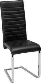 Nihajni Stol Elisa -based- - črna/krom, Moderno, kovina/tekstil (44/102/60cm) - Based