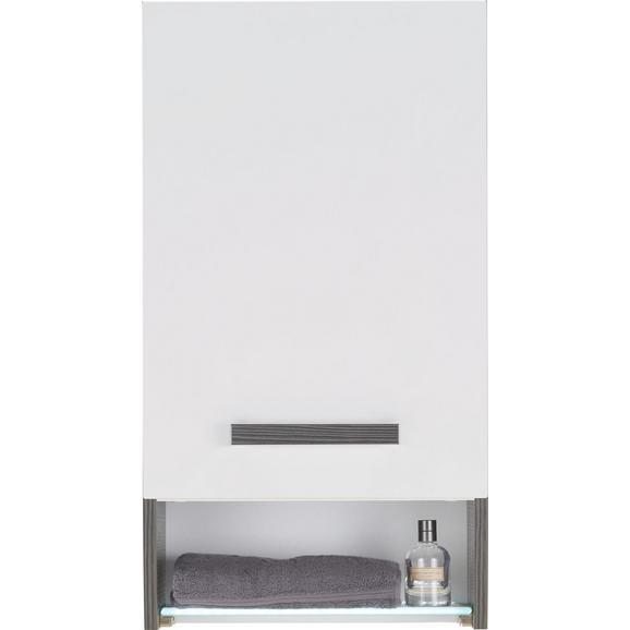 Oberschrank Weiß Hochglanz/Anthrazit - Chromfarben/Mooreichefarben, MODERN, Glas/Holzwerkstoff (40/73/21,5cm) - Premium Living