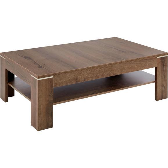 Couchtisch in Eichefarben - Schlammfarben/Eichefarben, MODERN, Holzwerkstoff/Kunststoff (120/43/75cm) - Based