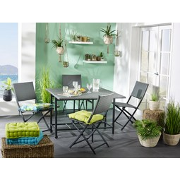 Balkon Szett Torino - sötétszürke, modern, műanyag/fém - MÖMAX modern living