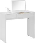 Schminktisch in Alpinweiß mit Spiegel - Weiß, Holzwerkstoff (90/76/40cm) - Modern Living