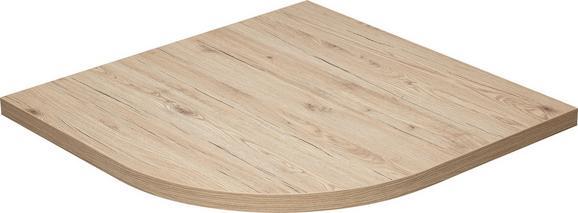 Eckverbindungsplatte Massiccio - Eichefarben, MODERN, Holz (80/4/80cm) - MÖMAX modern living