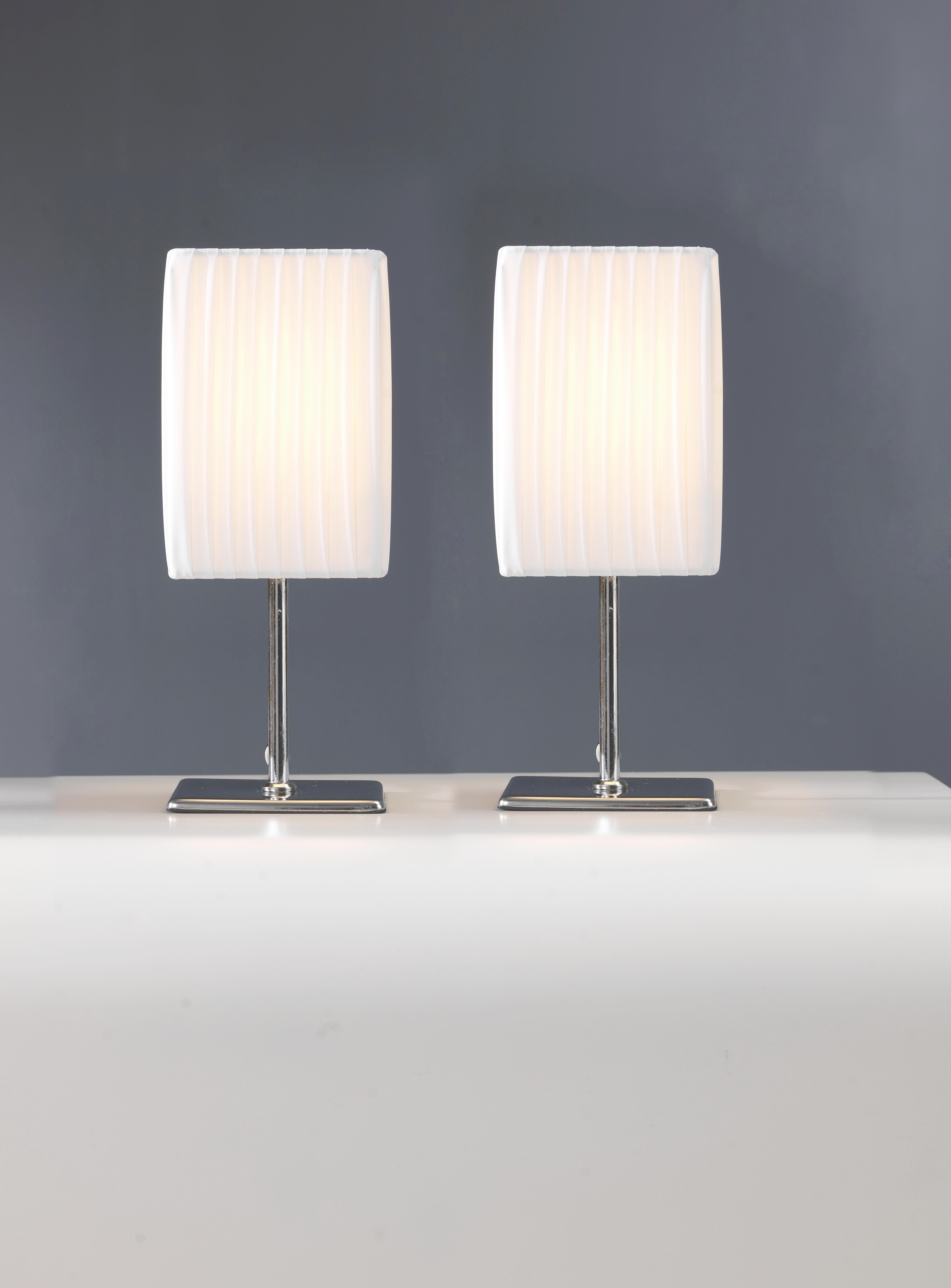 Asztali Lámpa Szövet Ernyővel - fehér, modern, textil/fém (25cm) - MÖMAX modern living