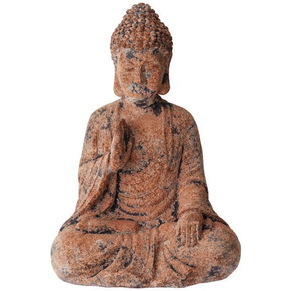 Buddha Buddha Schwarz/Braun - Schwarz/Braun, Naturmaterialien (28/21/41,5cm) - Mömax modern living