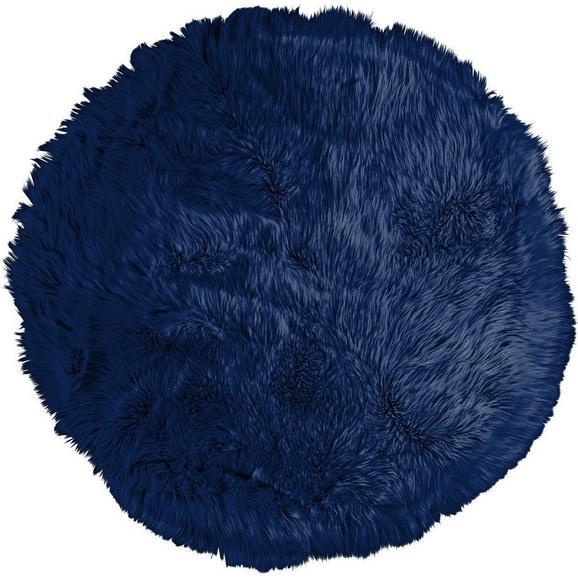 Kunstfell Teddy in Blau ca. 80cm - Blau, Textil (80cm) - Mömax modern living
