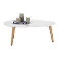 Couchtisch Twist ca.90x49cm - Buchefarben/Weiß, MODERN, Holz/Kunststoff (90/49/34,5cm) - Mömax modern living