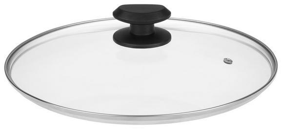 Deckel Gerry in Schwarz - Glas/Kunststoff (24cm) - Mömax modern living