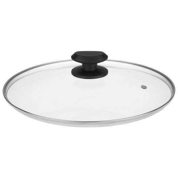 Deckel Gerry Schwarz - Klar/Schwarz, Glas/Kunststoff (20ml) - Mömax modern living