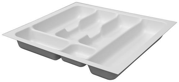 Besteckeinsatz zubehör / Weiß - Weiß, MODERN, Kunststoff (41,8/5/47,3cm)