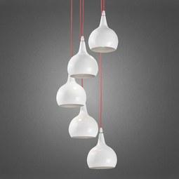 Hängeleuchte Sophie - Silberfarben/Weiß, MODERN, Metall (25/20cm) - PREMIUM LIVING