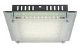 Stropna Led-svetilka Chris - bela/krom, Moderno, kovina/steklo (28/7cm) - Mömax modern living