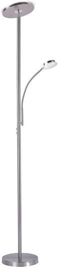 LED-Stehleuchte Hans Nickel max. 22 Watt - Nickelfarben, KONVENTIONELL, Metall (30/30/181cm)