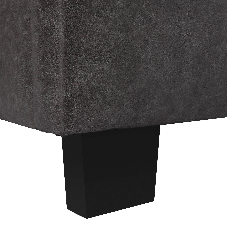 Polsterbett Millie 180x200cm - Dunkelgrau/Schwarz, MODERN, Holz/Textil (197/131/233cm) - MÖMAX modern living