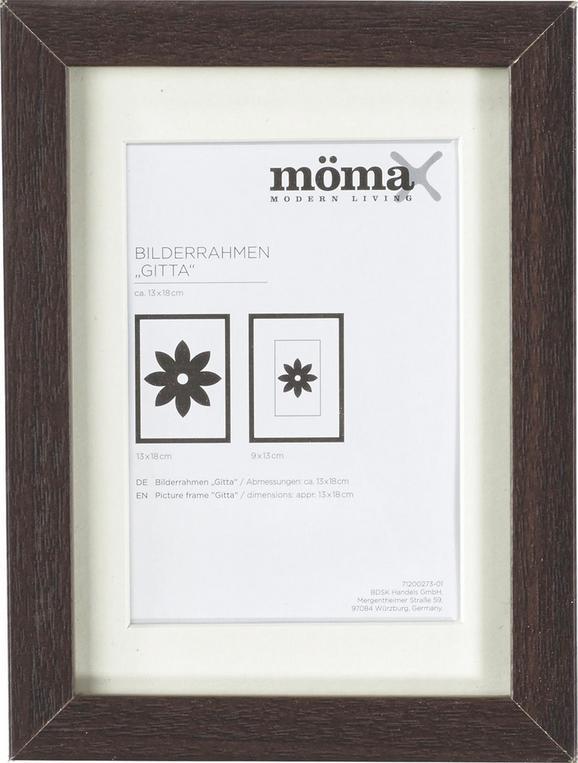 Bilderrahmen Gitta, ca. 13x18cm aus Holz - Wengefarben, MODERN, Glas/Holz (13/18cm) - Mömax modern living