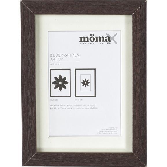 Bilderrahmen Gitta ca. 13x18cm aus Holz - Wengefarben, MODERN, Glas/Holzwerkstoff (13/18/3,6cm) - Mömax modern living