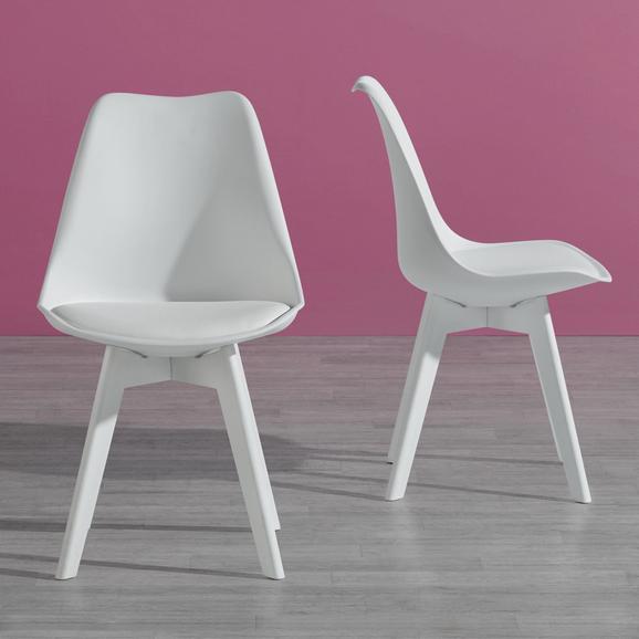 Stuhl Vega - Weiß, MODERN, Kunststoff (49/83/54cm) - MODERN LIVING