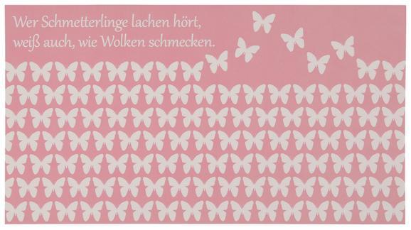 Postkarte Michael, ca. 12,5x23cm - Hellrosa/Weiß, Papier (12,5/23cm) - Mömax modern living