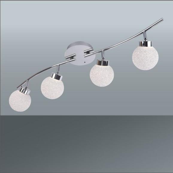 LED-Strahler Miko Chrom max. 3,5 Watt - Chromfarben, MODERN, Kunststoff/Metall (75/14,5cm) - Mömax modern living