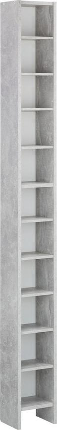 Regal Za Cd-je Hallo 2 - siva/bela, leseni material/les (19,5/185/16,5cm)