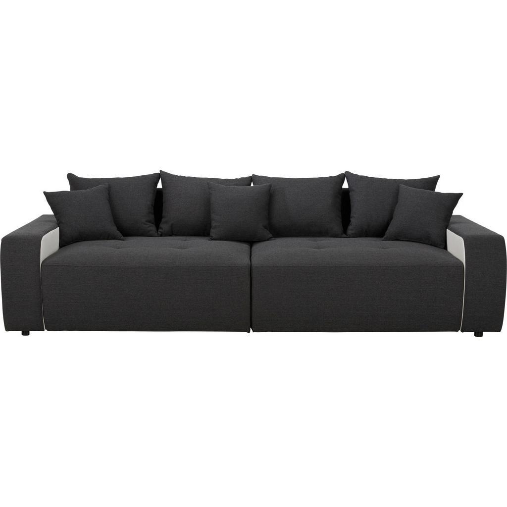 Bigsofa in Schwarz mit Kissen