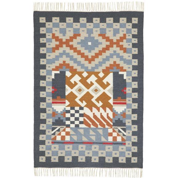 Teppich Kelim in Multicolor ca.120x170cm 'Jesmin' - Multicolor, KONVENTIONELL, Textil (120/170cm) - Bessagi Home