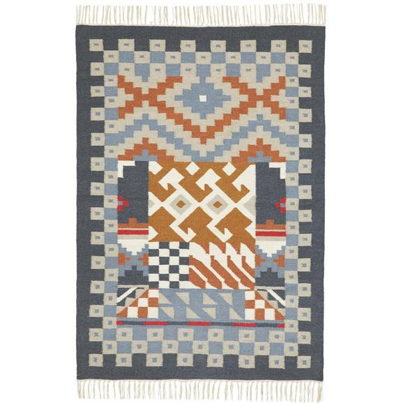 Teppich Kelim in Multicolor ca.80x150cm 'Jesmin' - Multicolor, KONVENTIONELL, Textil (80/150cm) - Bessagi Home