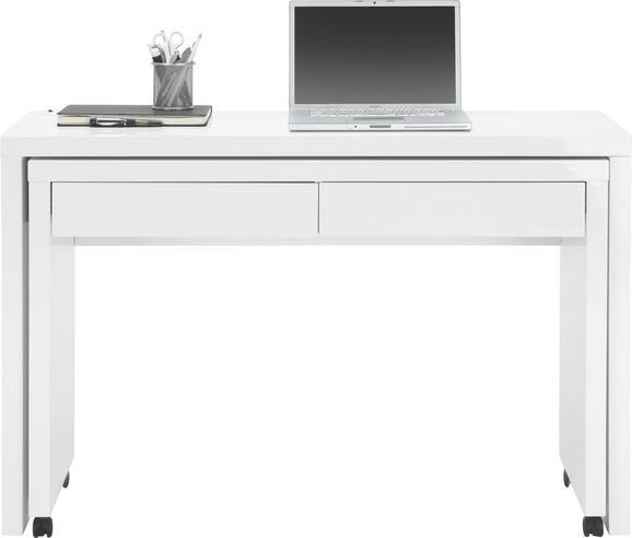 Funkciós Íróasztal Linos - Fehér, Faalapú anyag/Műanyag (120/79/39cm) - Mömax modern living