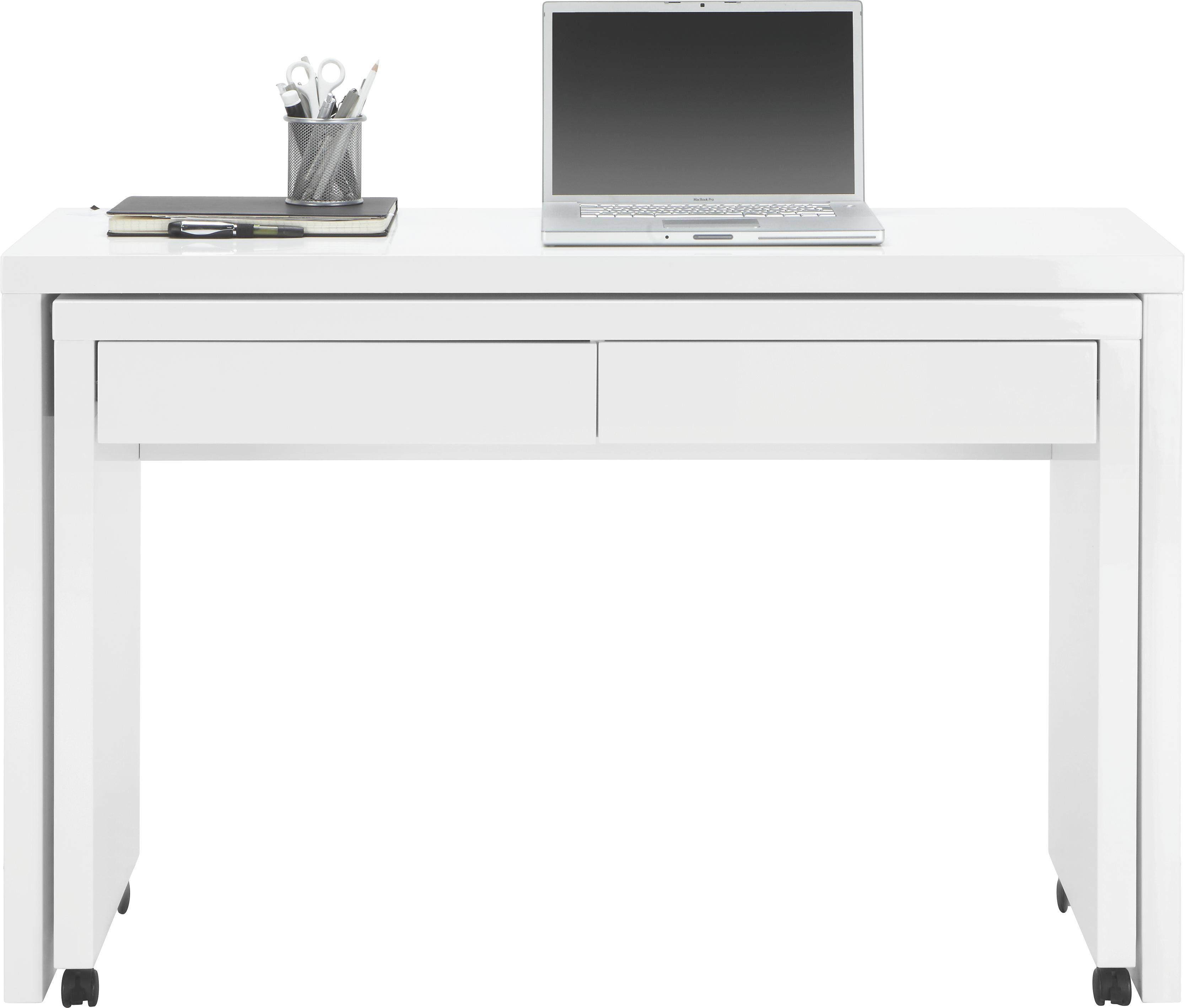 Charming Schreibtisch In Weiß Hochglanz   Weiß, MODERN, Holzwerkstoff/Kunststoff  (120/79 Good Ideas