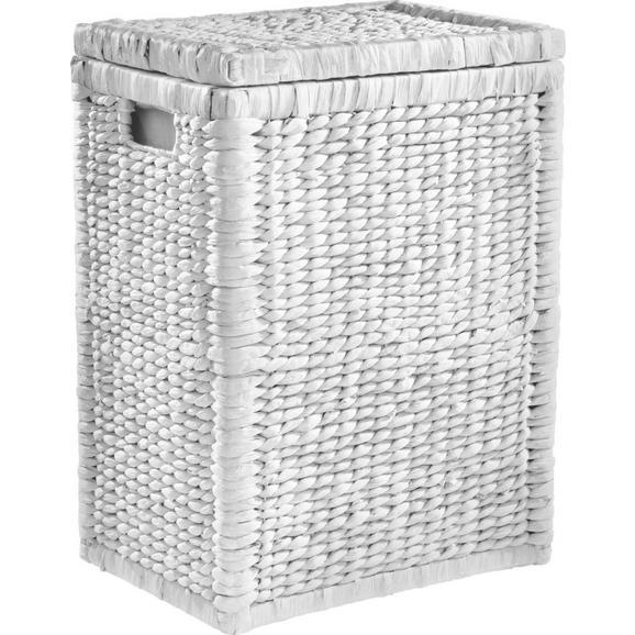 Ruháskosár Tobi I - Fehér, romantikus/Landhaus, Természetes anyagok/Fa (44/58/32cm) - Zandiara