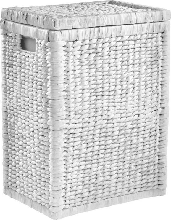 Wäschekorb Tobi I - Weiß, ROMANTIK / LANDHAUS, Holz/Weitere Naturmaterialien (44/58/32cm) - MÖMAX modern living