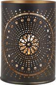 Teelichthalter Mila aus Metall Für 1 Teelicht - Goldfarben/Weiß, Metall (7/9,5cm) - MÖMAX modern living