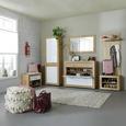 Sitzbank in Eichefarben - Eichefarben/Schwarz, MODERN, Holzwerkstoff/Kunststoff (80/50/36cm) - Mömax modern living