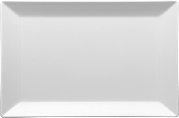 Platte Manhattan City in Weiß - Weiß, MODERN, Keramik (34,2/3/22,7cm)