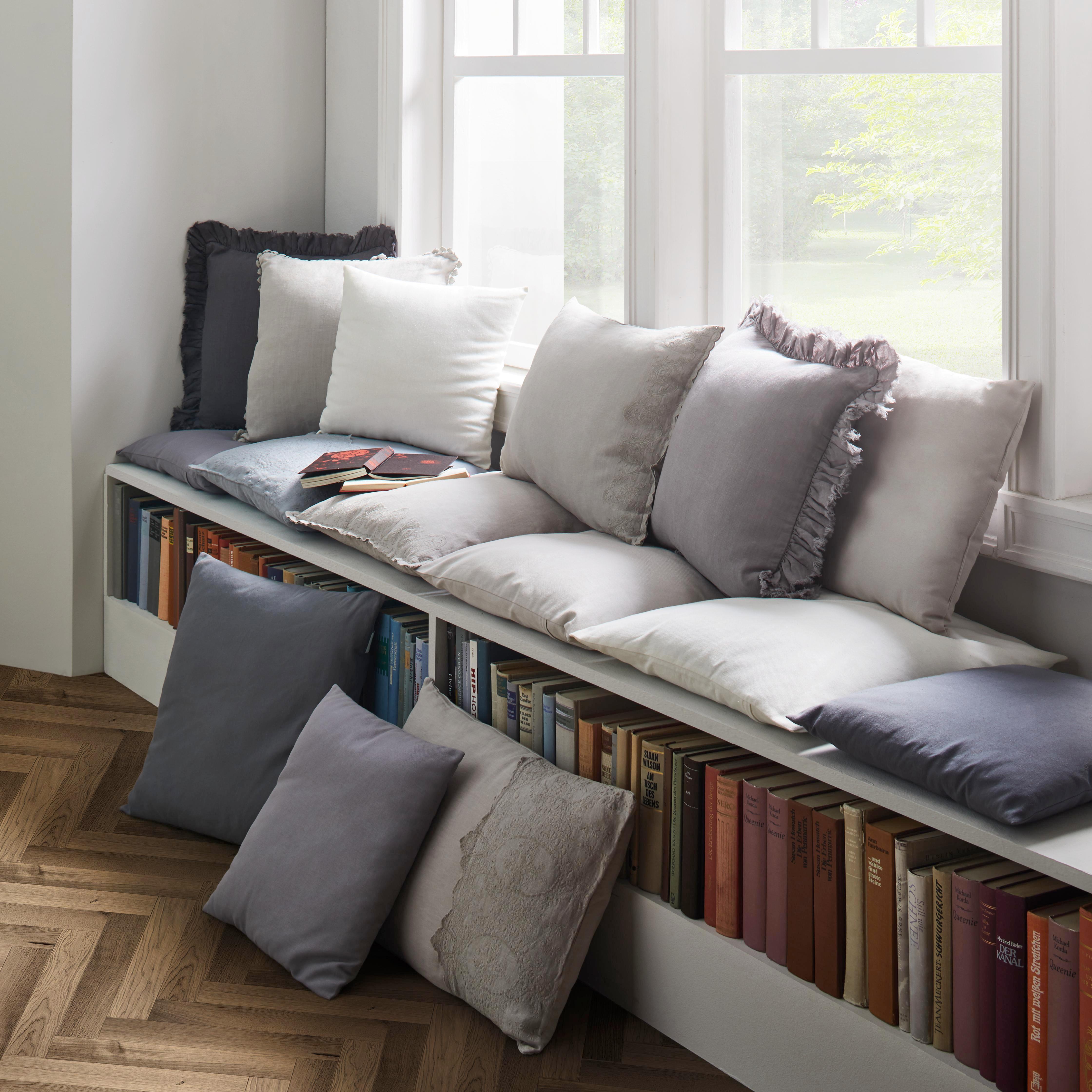 Zierkissen Diane 40x40cm - Naturfarben, KONVENTIONELL, Textil (40/40cm) - MÖMAX modern living