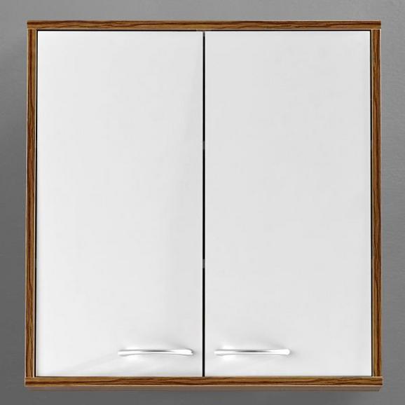 Oberschrank Weiß/Kieferfarben 'Milano' - Weiß/Kieferfarben, MODERN, Holz/Metall (60/62/19cm) - Bessagi Home