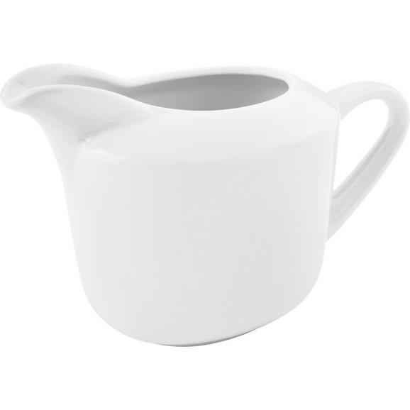 Milchkännchen Adria Weiß - Weiß, KONVENTIONELL, Keramik (10,7/8,8cm) - Mömax modern living