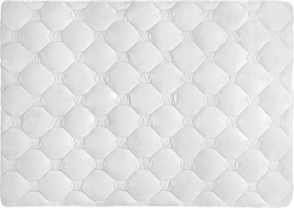 Steppdecke Aloe Vera, ca. 140x200cm - Weiß, Textil (140/200cm) - Nadana