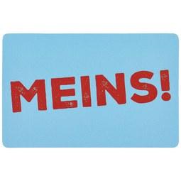 Kühlschrankmagnet Statements Meins! - Goldfarben, Metall (8,5/5,5cm)