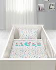 Kinderbettwäsche Cute Bunny Weiß/Jade 100x135cm - Jadegrün/Weiß, KONVENTIONELL, Textil (100/135cm) - Mömax modern living
