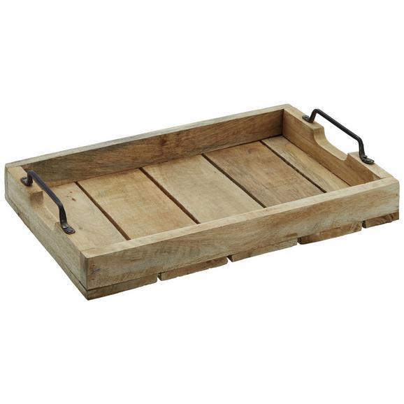 Tablett BBQ Braun - Braun, Holz (38/25,5/13,2cm)