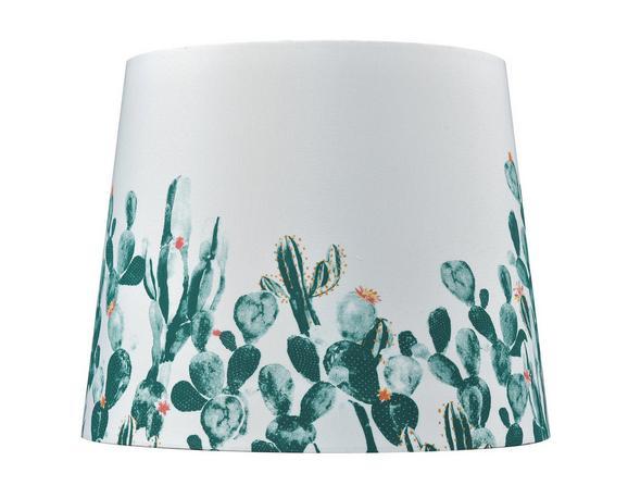 Leuchtenschirm Cactus, 60 Watt - Weiß/Grün, MODERN, Textil/Metall (16,5-20/15,6cm) - Mömax modern living